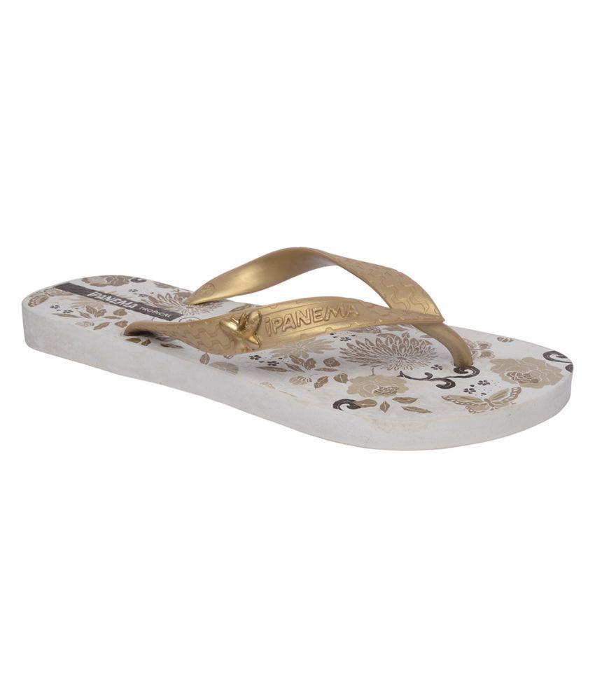 Ipanema Gold Flip Flops