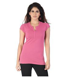 Kkoir Pink Cotton T-Shirts