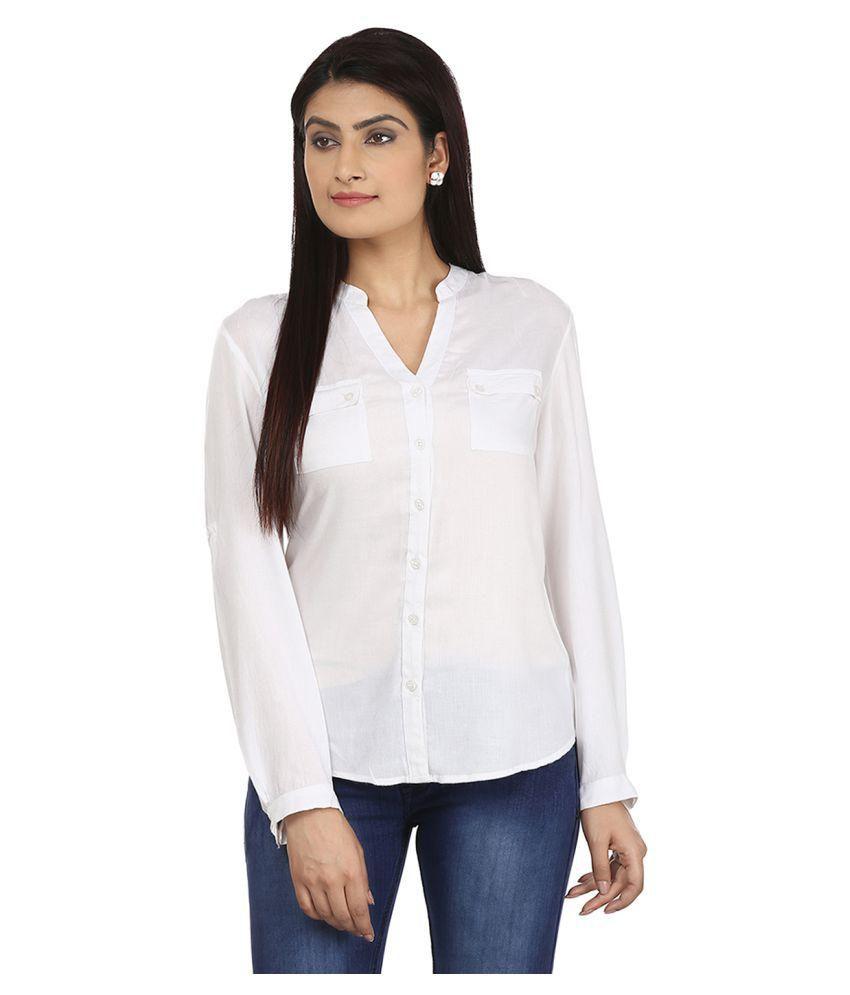 Eves Pret A Porter White Viscose Shirts