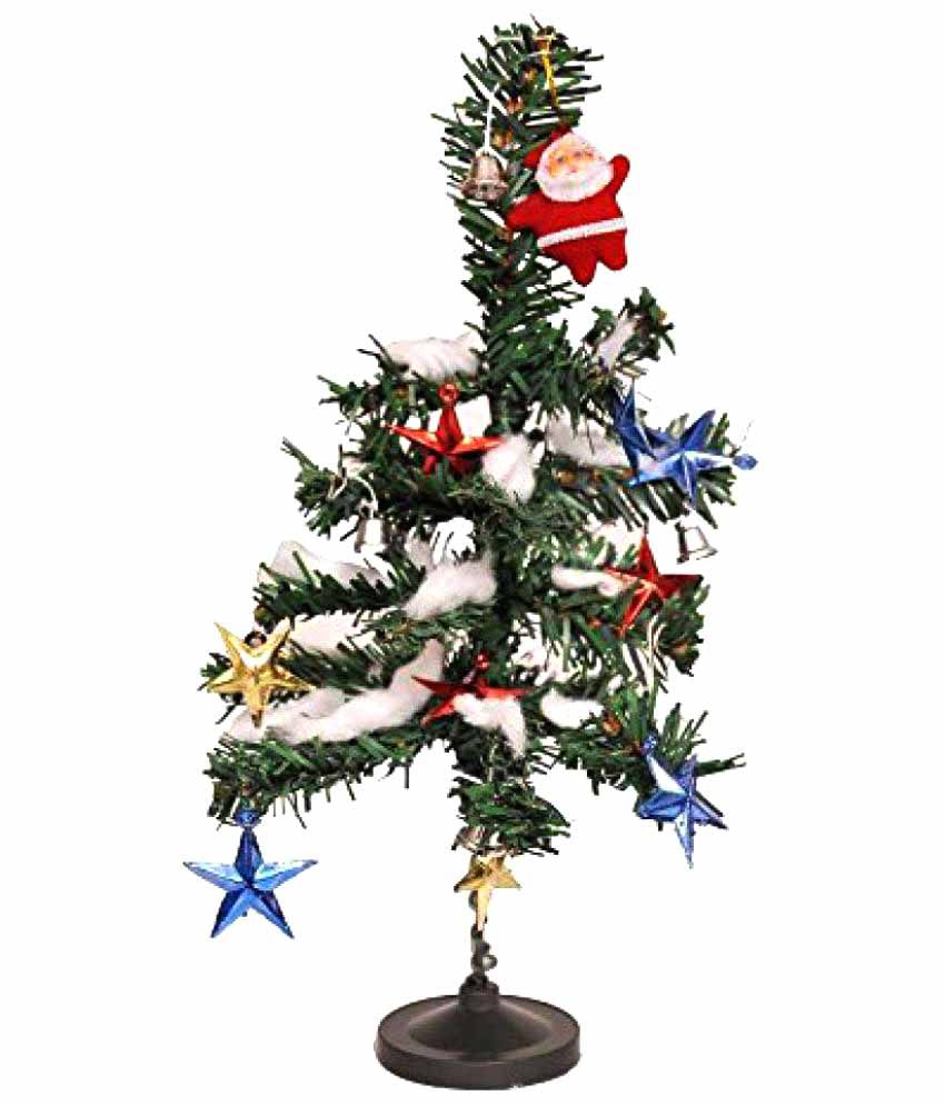 """Indigo Creatives 12"""" Christmas Table Top Tree with 14 Decorations Gift Hamper- 60% OFF"""
