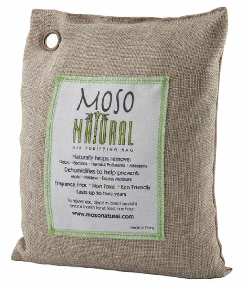 Moso Natural Air Purifying Bag 200g Green Color Naturally Removes Odors,Allergens and Harmful Pollutants . Reuse Upto 2 Years ,