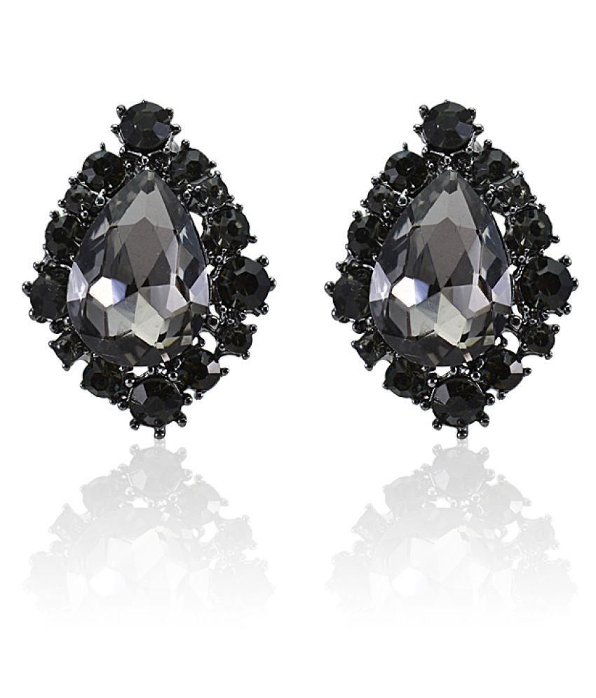 Giftipedia Black Acrylic Studs Earrings