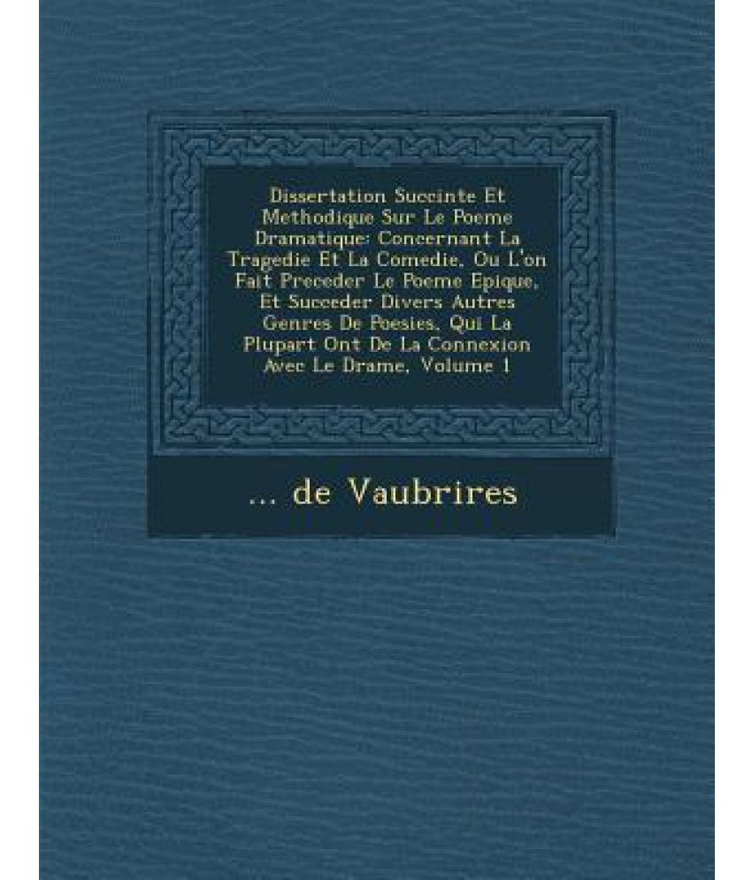 sujet dissertation sur la poesie
