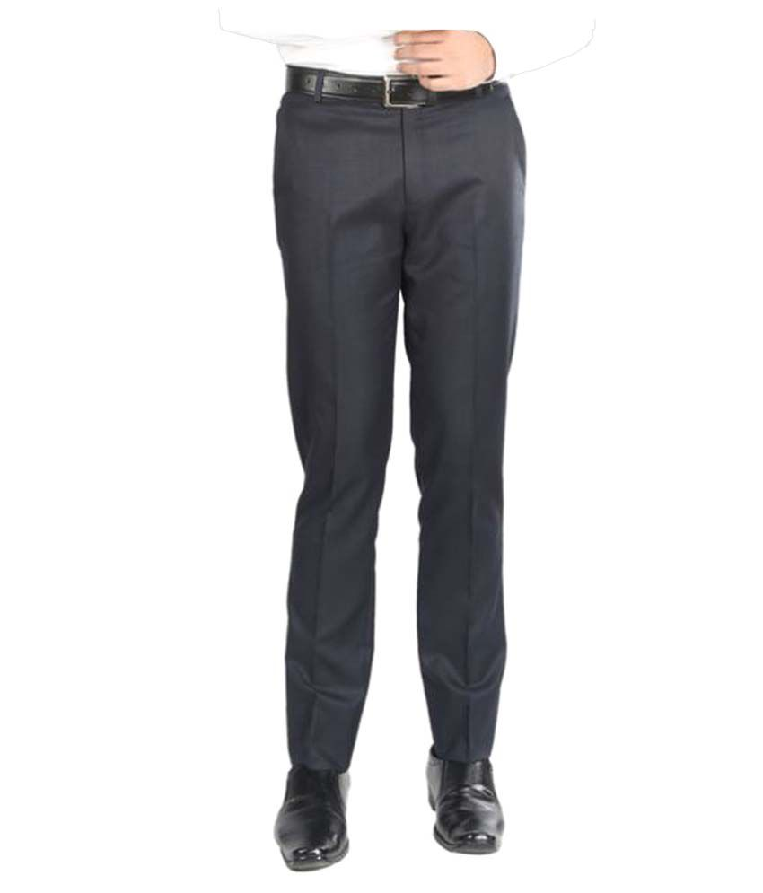 Numerics Blue Slim Flat Trouser