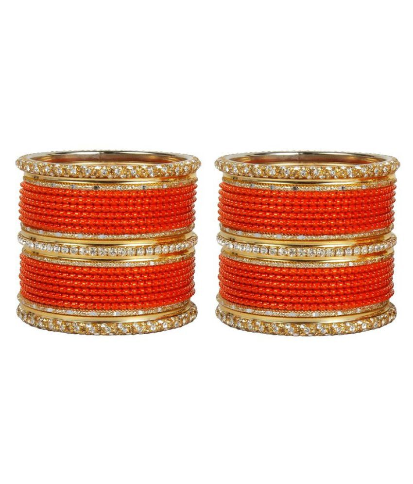 Much More Ethnic Design Work Bangles Set Of 46