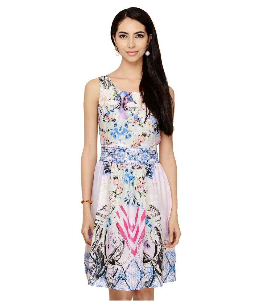 Rosa18 Poly Crepe Dresses