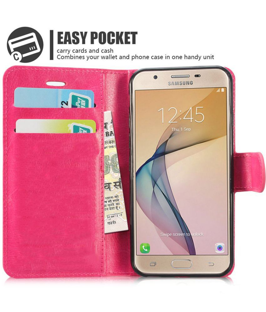 timeless design 3d80a 60179 Samsung Galaxy J7 Prime Flip Cover by N+ INDIA - PINK
