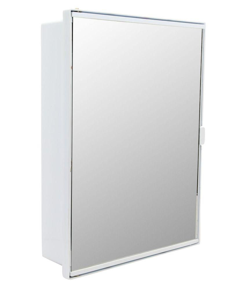 buy zahab duster white plastic bathroom mirror cabinet online at
