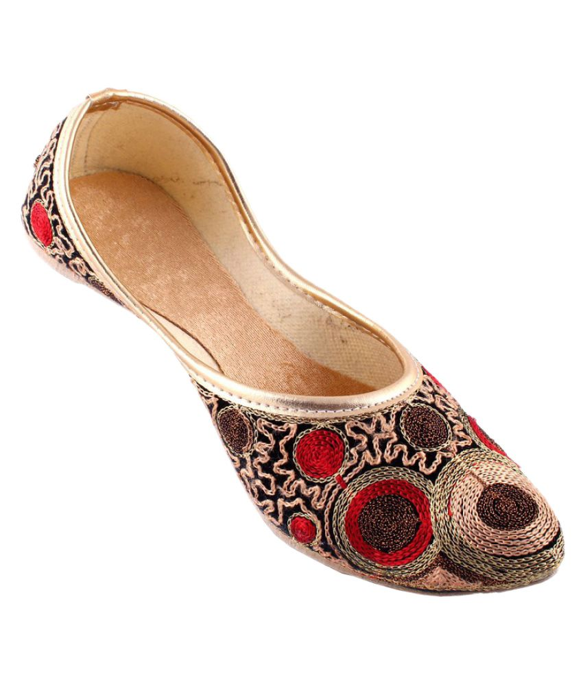 Neerupam Collection Multi Color Flat Ethnic Footwear