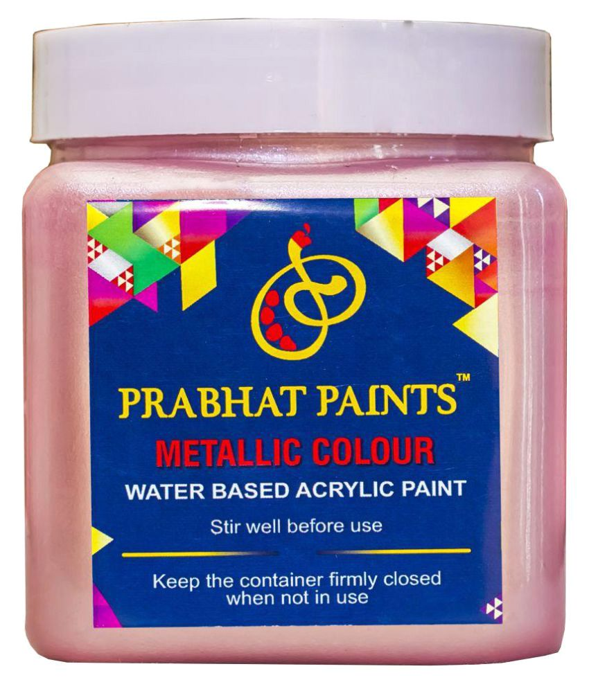 Prabhat Paints Acrylic Metallic / Pearl Colours (1KG, Pink) (Water based paint)