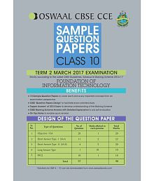 Oswaal CBSE CCE Sample Question Paper For class 10 Term II Foundation of Information Technology