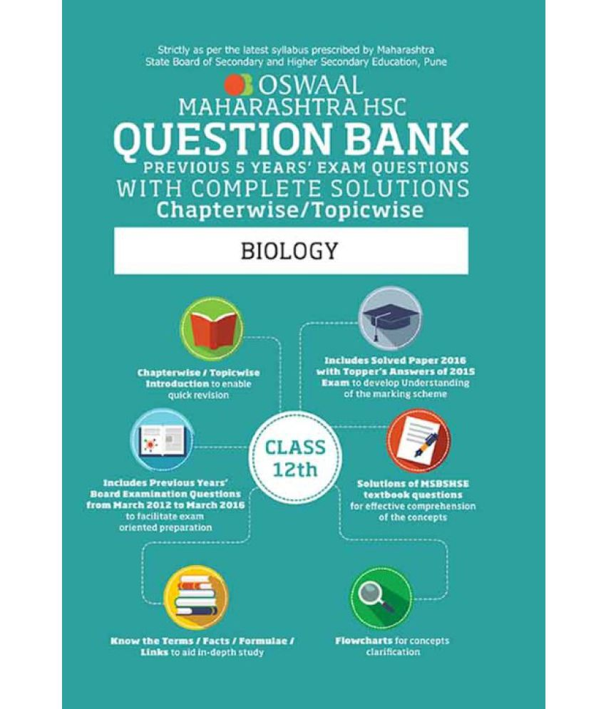 Oswaal Maharashtra HSC Question Bank With Complete Solution For Class 12  Biology