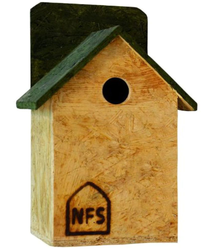 Nature Forever House Shaped Sparrow And Tit Nestbox