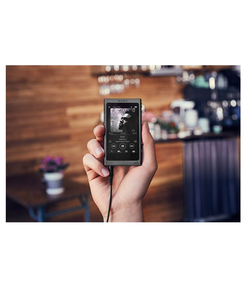 buy sony nw a35 hi res walkman with touchscreen display black rh snapdeal com