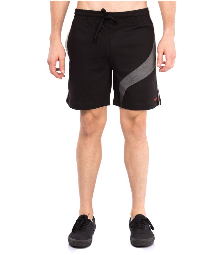 VIP Frenchie Black Cotton Walking Shorts Single