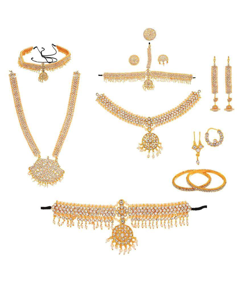 Usha Gold Plating Works Golden Bharatanatyam Jewellery Set Buy Usha