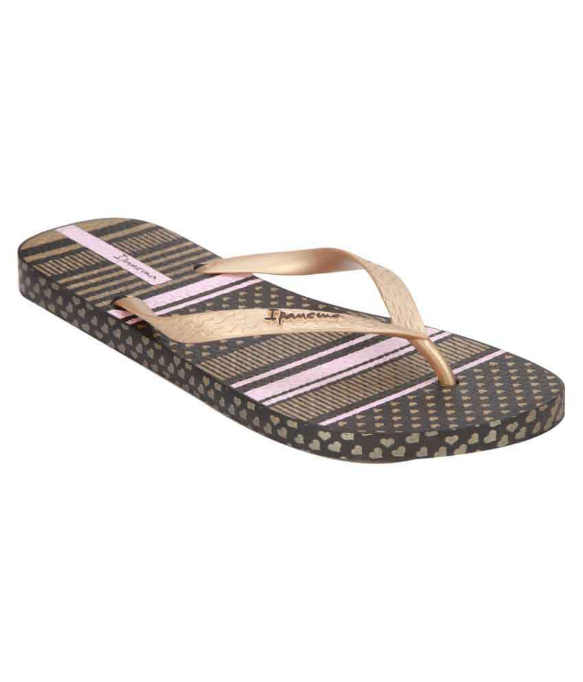 Ipanema Gold Slippers