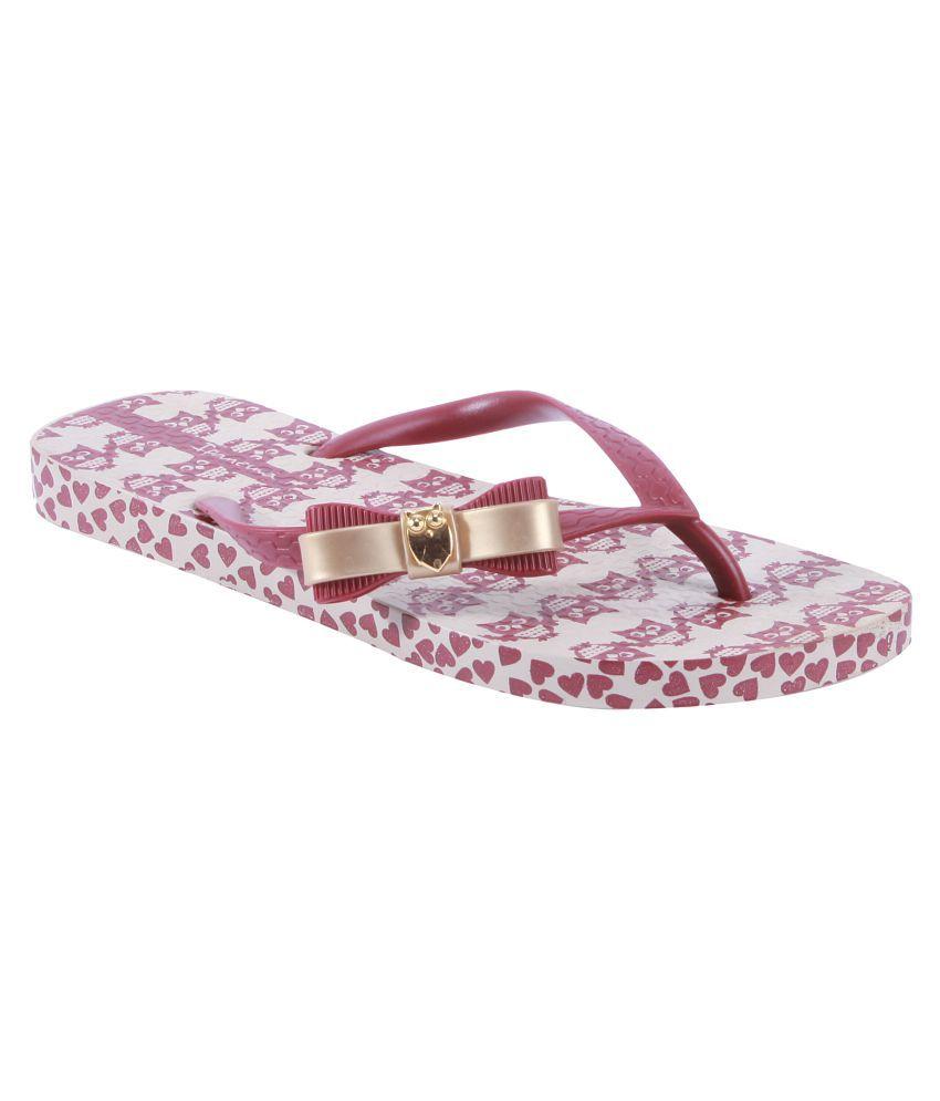 Ipanema Maroon Slippers