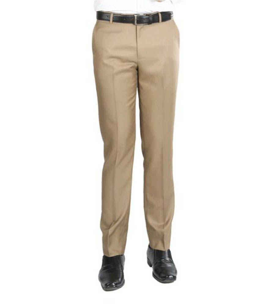 Numerics Khaki Slim Flat Trouser
