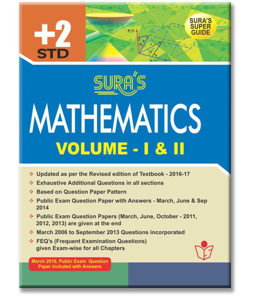 12th Standard Guide Mathematics English Medium Volume I Ii Tamilnadu State Board Syllabus Buy 12th Standard Guide Mathematics English Medium Volume I Ii Tamilnadu State Board Syllabus Online At Low