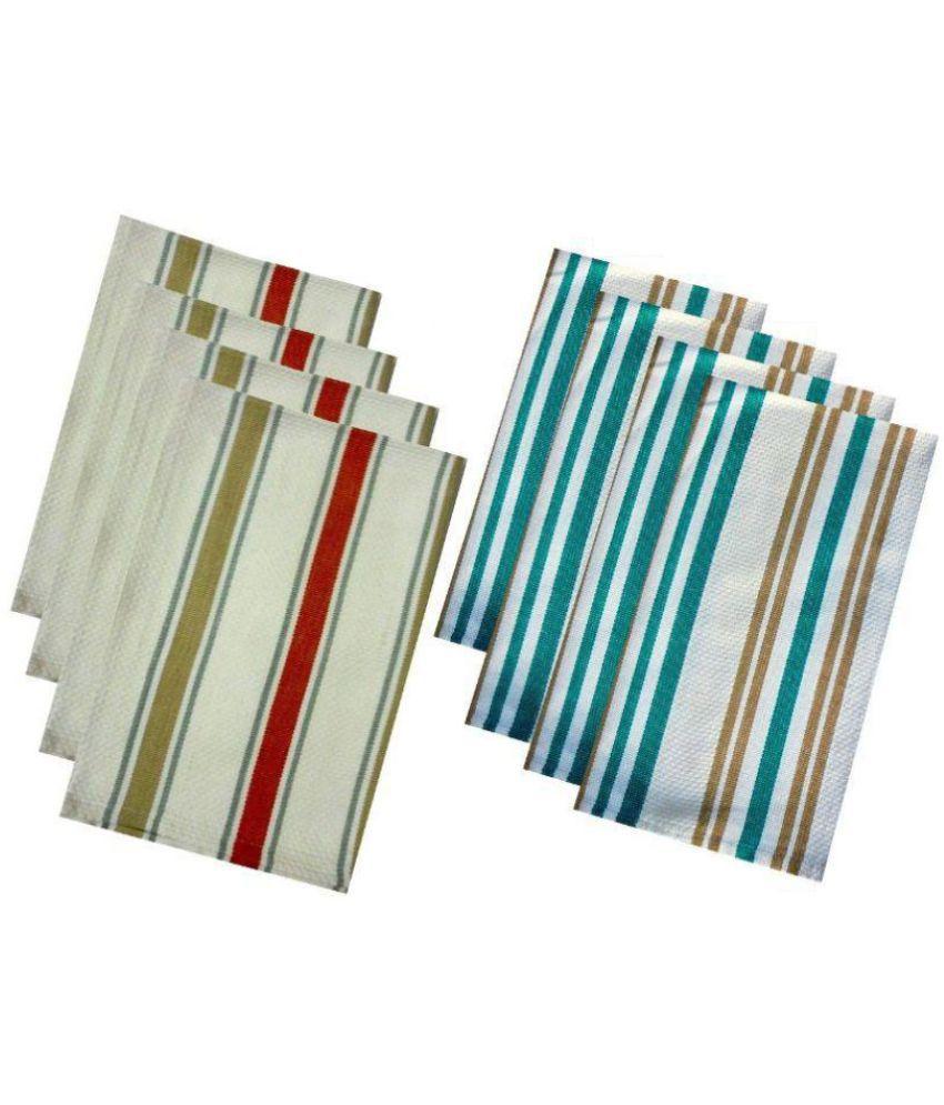 Tidy Set of 8 45x66 Cotton Kitchen Towel