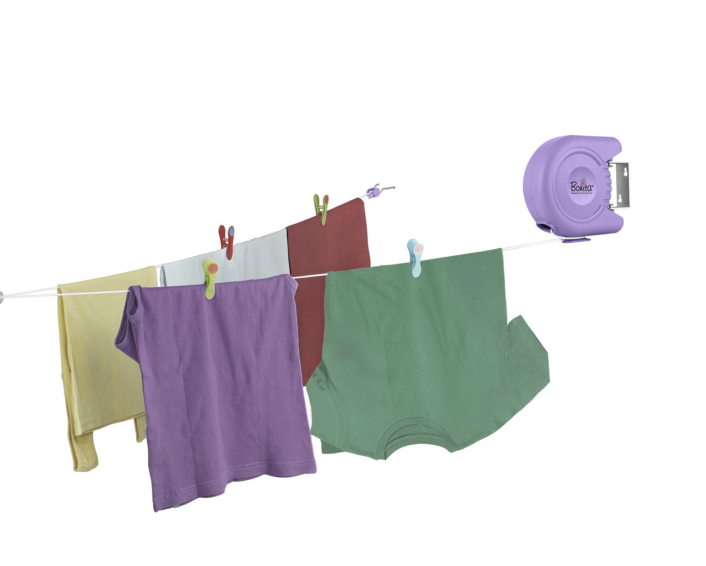 Bonita Delight Retractable Cloth Line Rope 40 feet Purple