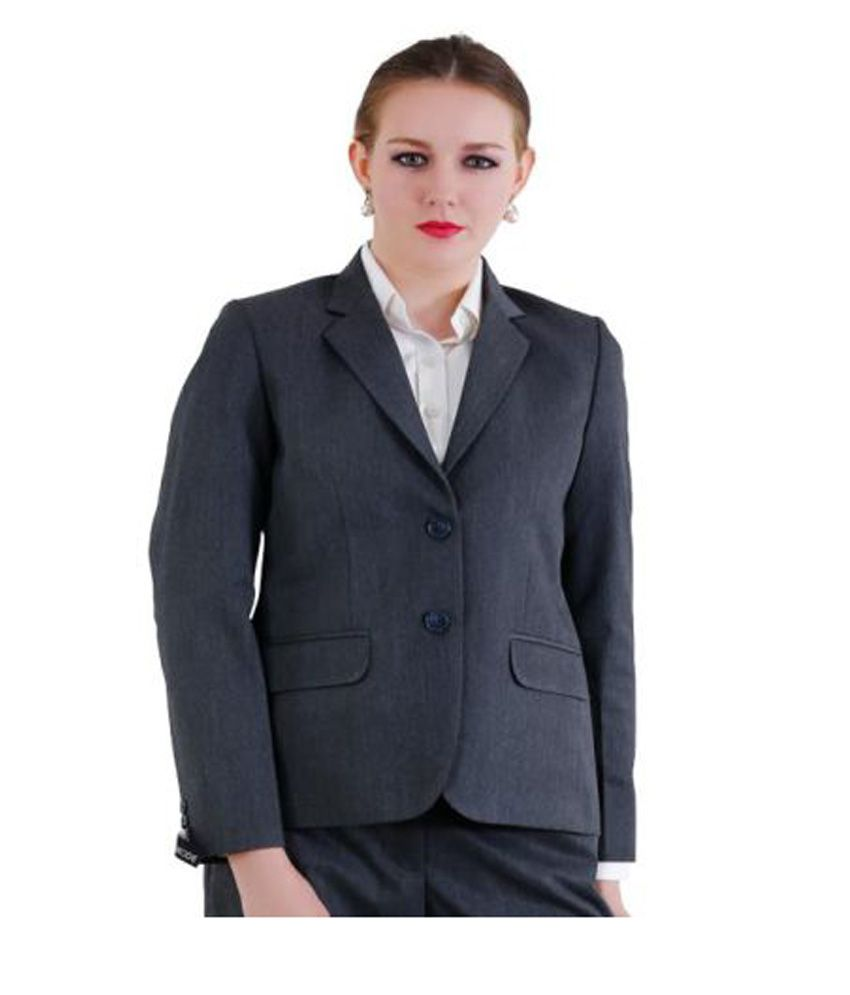 La Mode Grey Solid Formal Waistcoats Single
