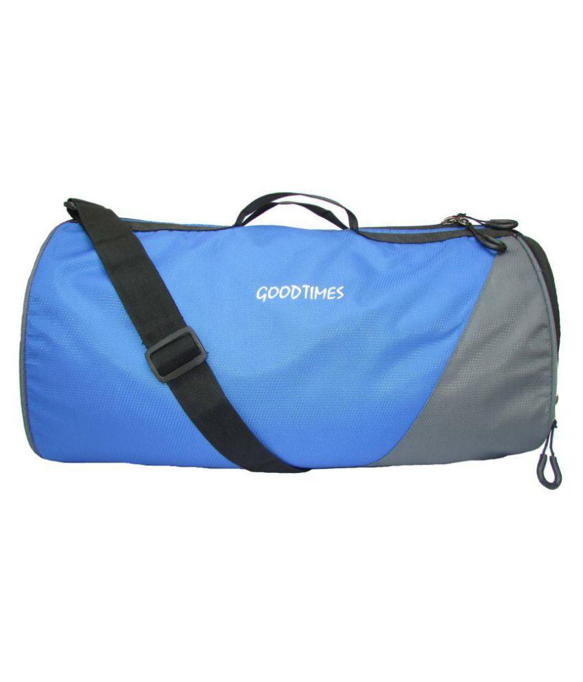 Good Times Grey and Blue Gym Bag