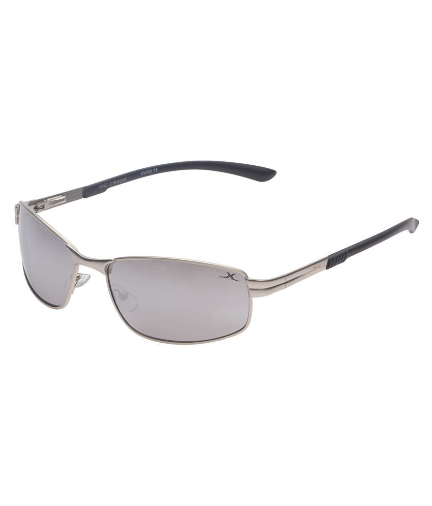 da1290c778a Vast Silver Rectangle Sunglasses ( 18575 C27 Smock White Mirror ) - Buy  Vast Silver Rectangle Sunglasses ( 18575 C27 Smock White Mirror ) Online at  Low ...