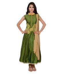 Hita Sea Green Cotton Silk Anarkali Stitched Suit