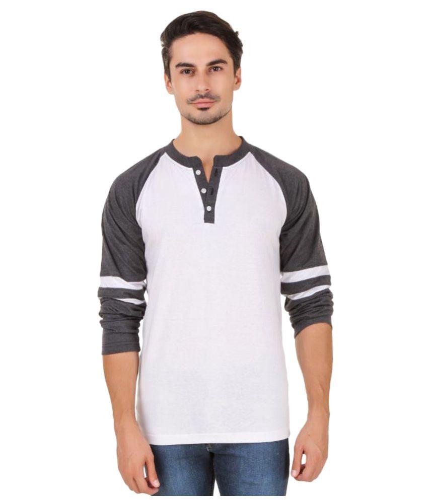 Aurelio Marco White Henley T-Shirt