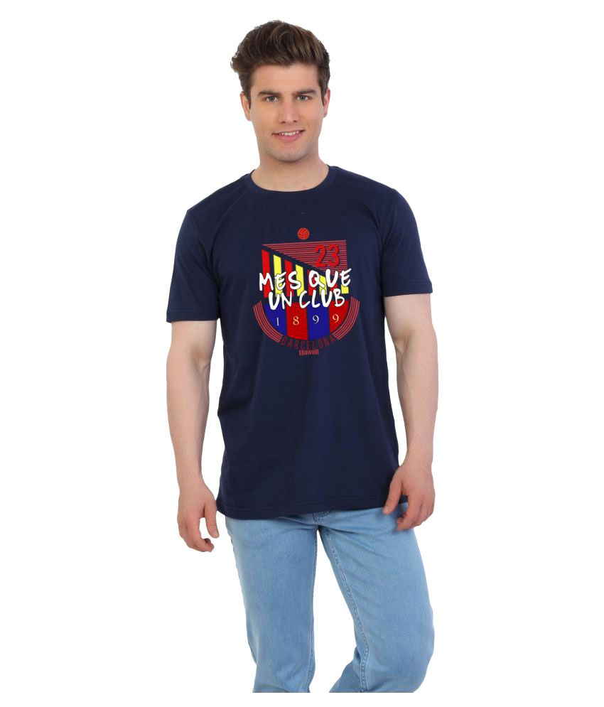 Eetee Blue Round T-Shirt