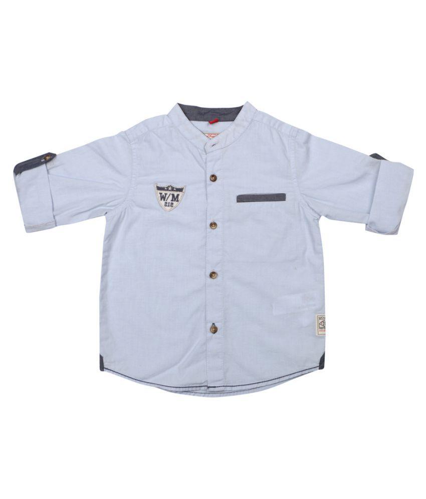 Wowmom White Full Sleeves Cotton Baby Shirts