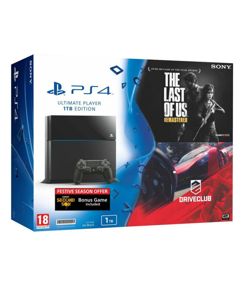 Sony Playstation 4 1TB Console with 3 Free Games (The Last of US ,Drive Club and Infamous Second Son)