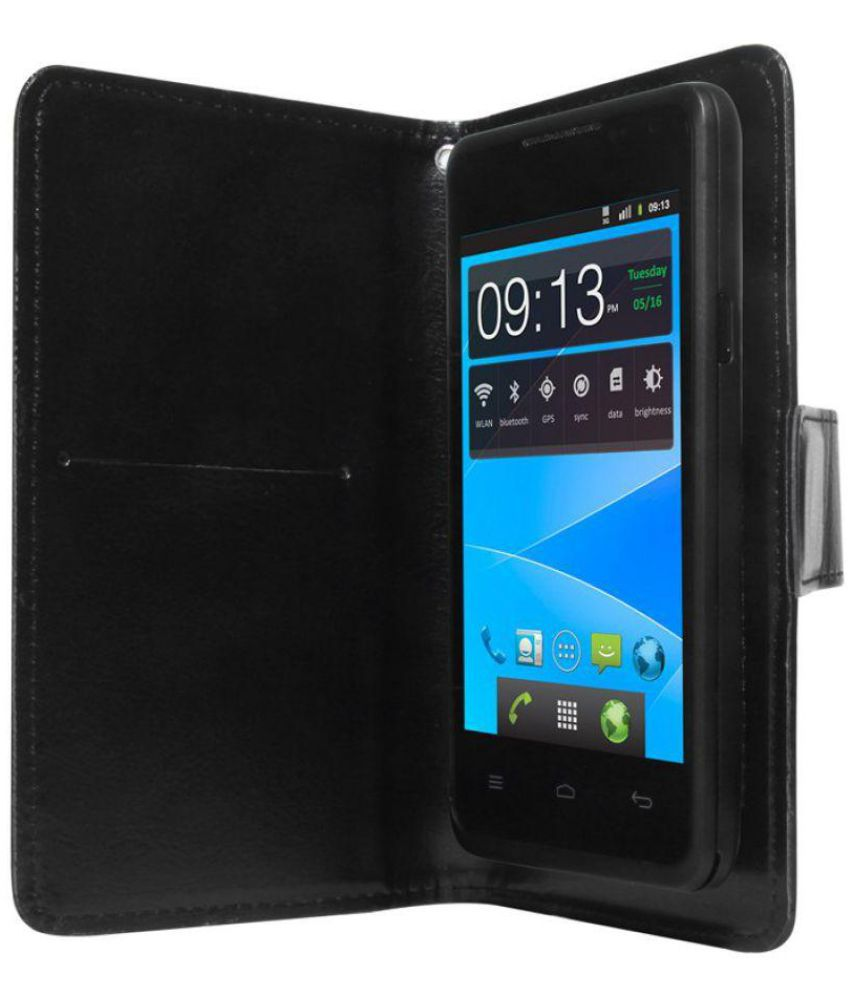 Gionee Pioneer P3S Flip Cover by STK - Black