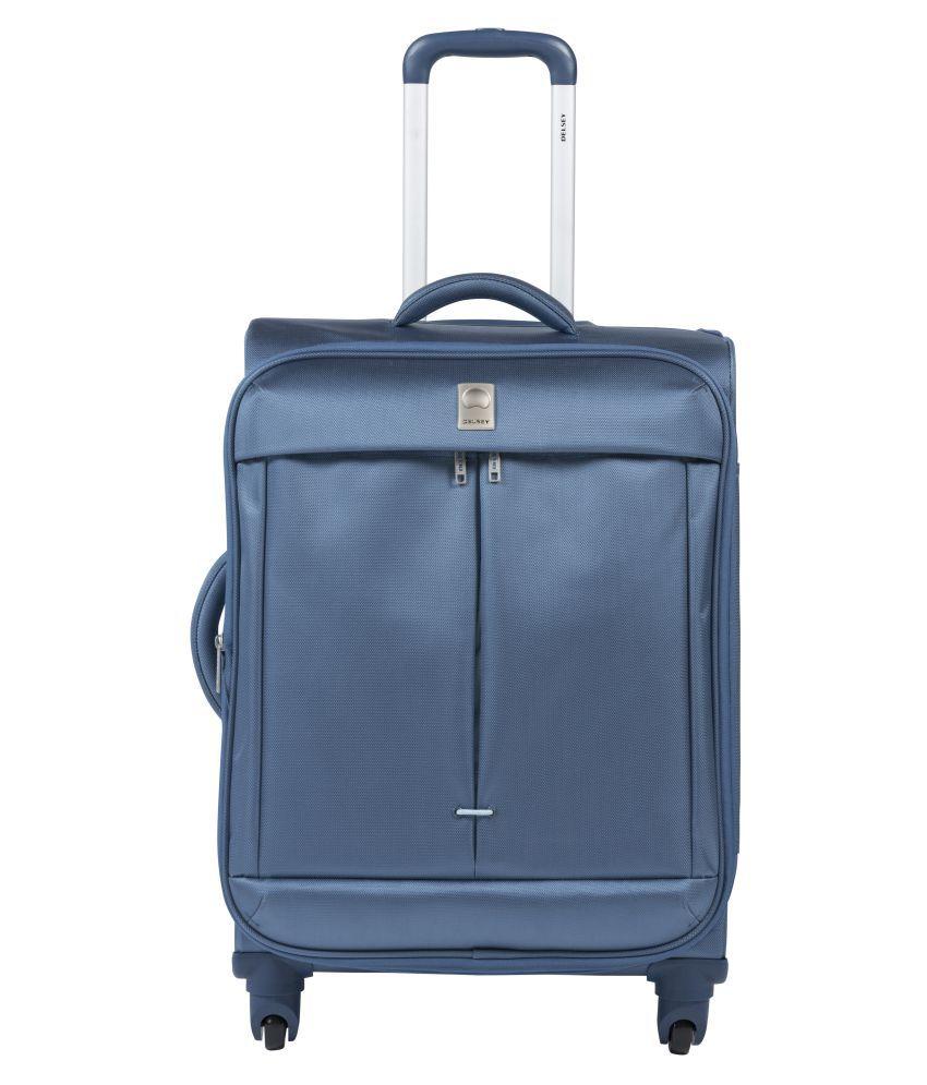 delsey blue l above 70cm check in soft flight luggage. Black Bedroom Furniture Sets. Home Design Ideas