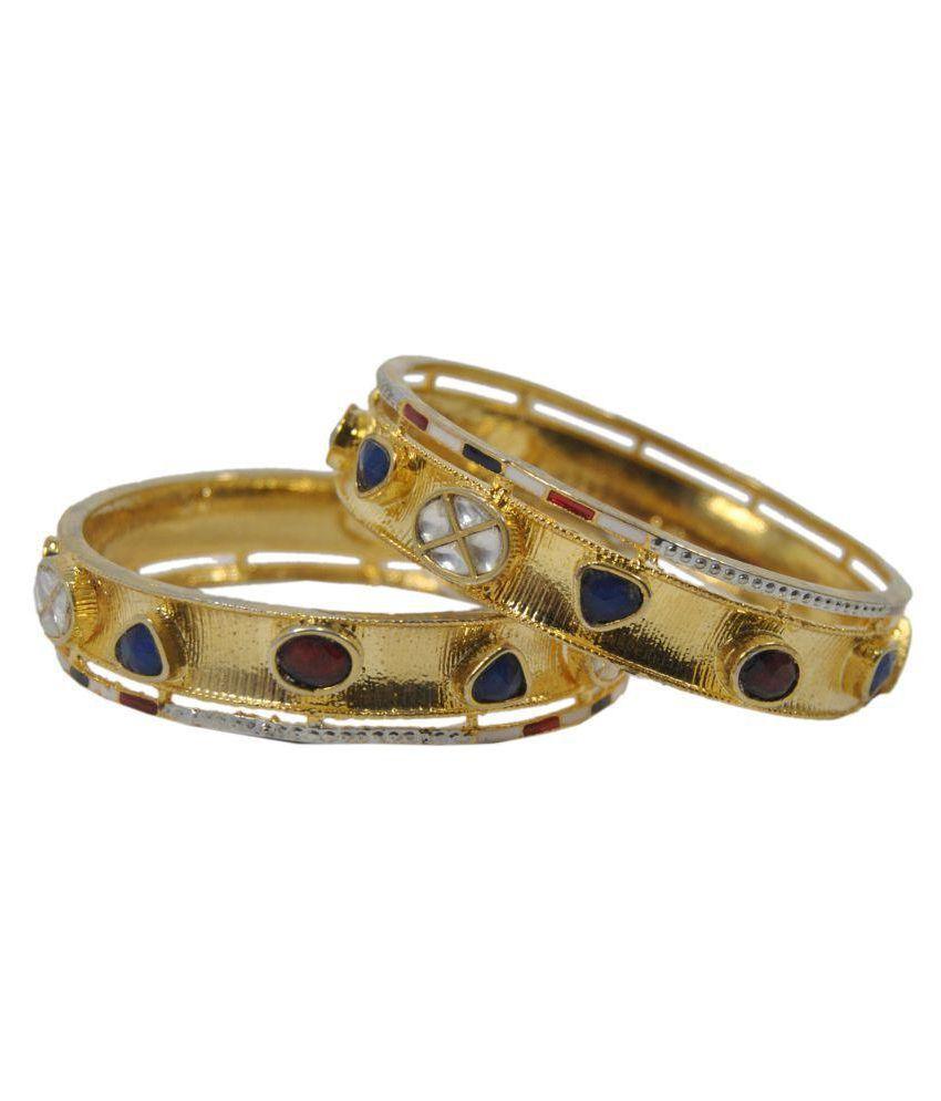 Saheli Art Jewellery Golden Bangle - Set of 2