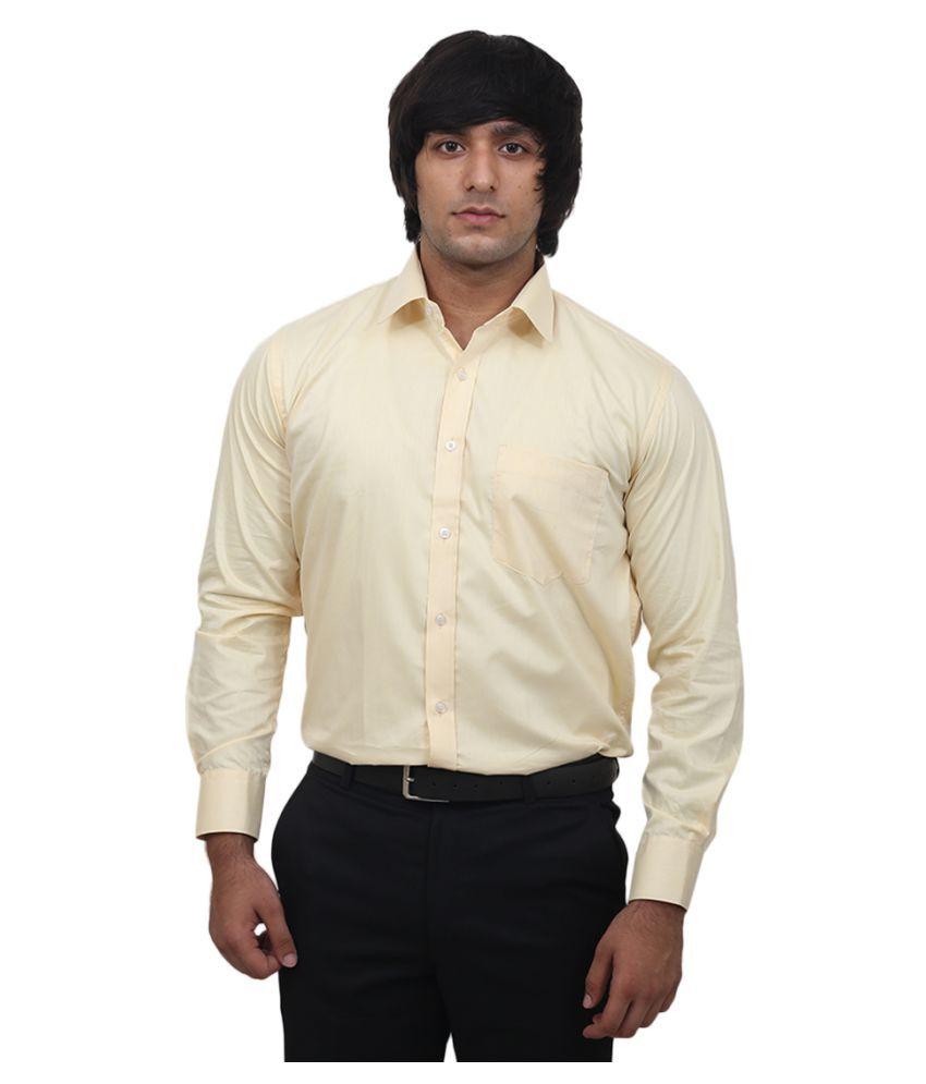 Utility Studio Yellow Formal Regular Fit Shirt
