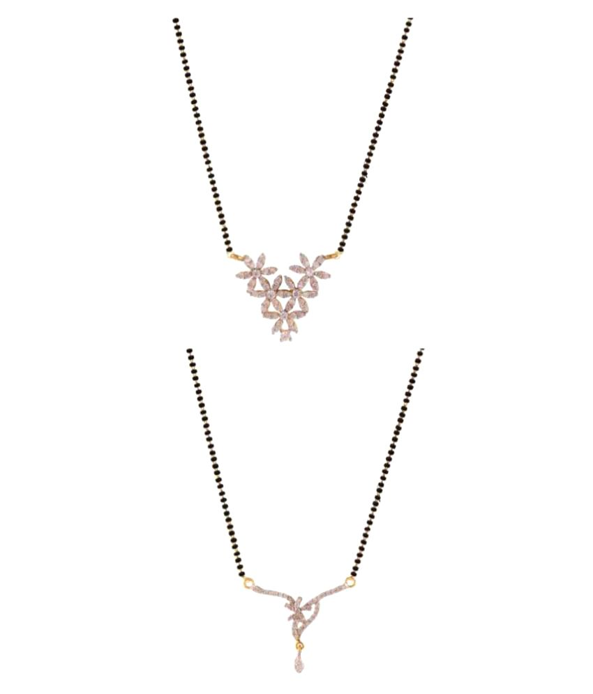 Efulgenz Multicolour Alloy Mangalsutra Set of 2