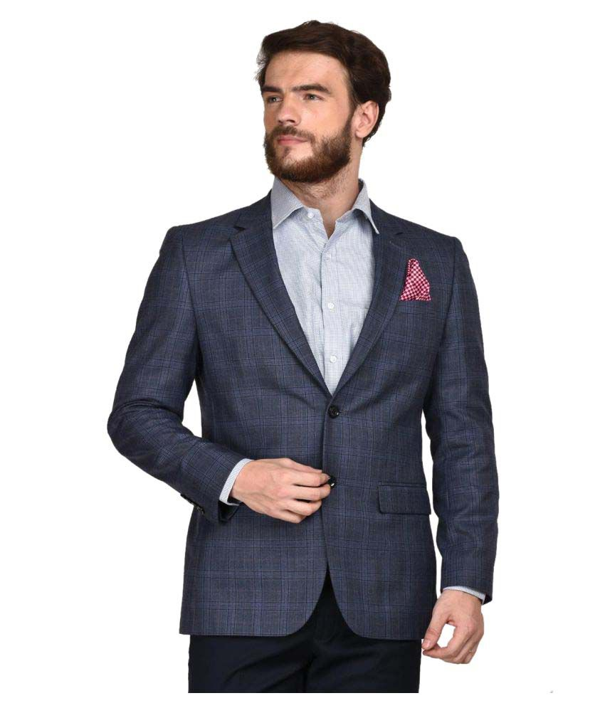 La Mode Grey Checks Formal Blazers