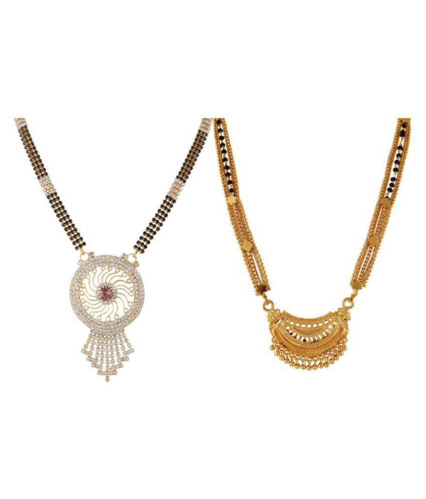 Biyu Multicolor Mangalsutra - Pack of 2