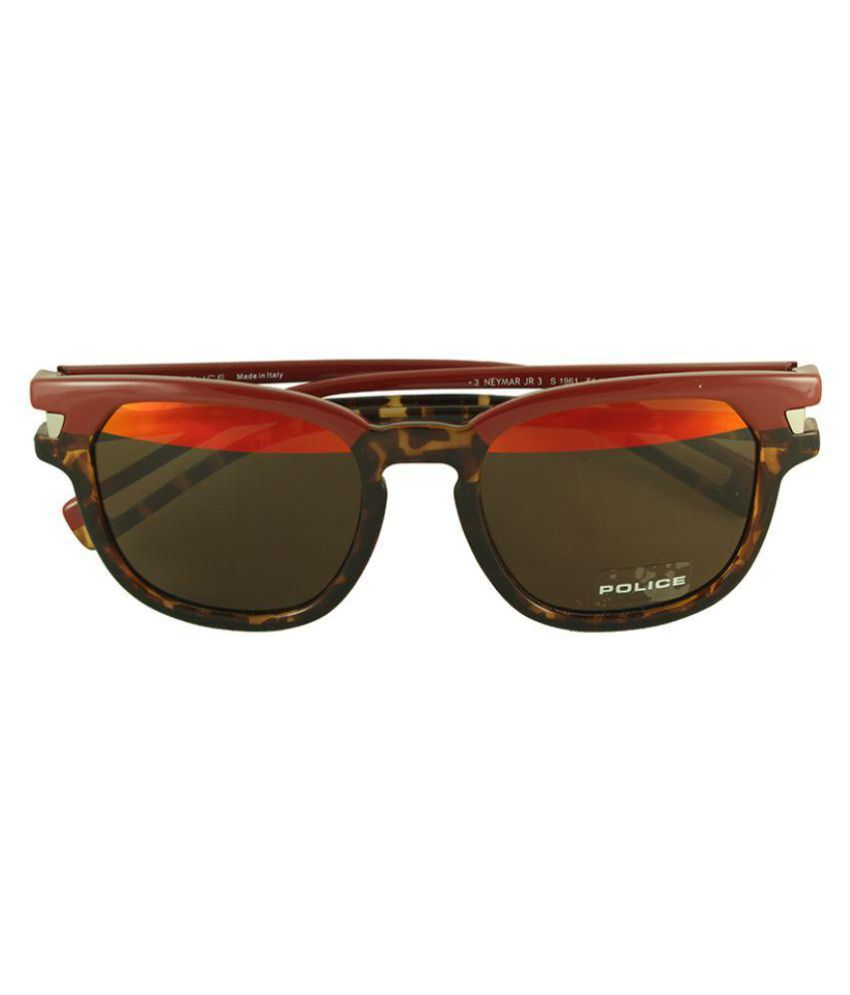 red wayfarer sunglasses uqw9  Police Red Wayfarer Sunglasses  Police-S1961-NK5H
