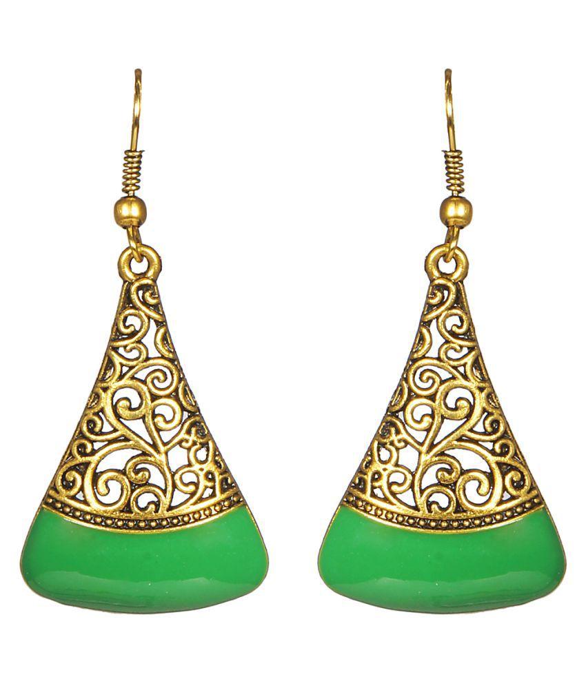 CTW Green Alloy Hangings Earrings