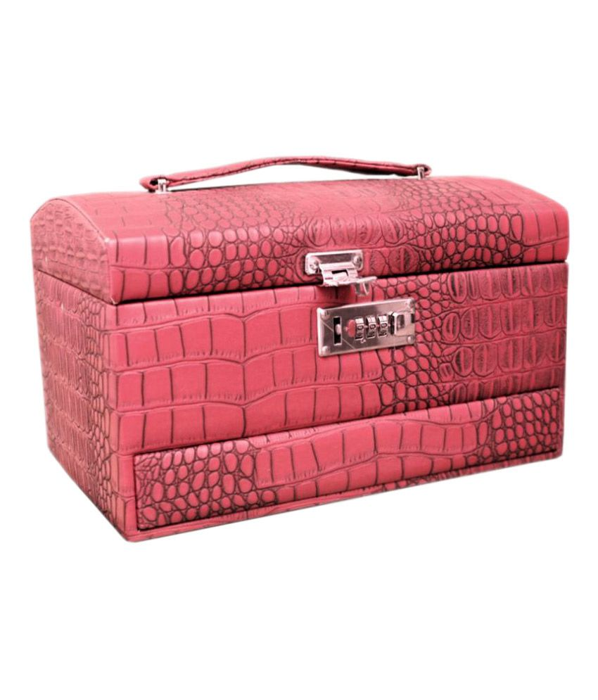 GeorgiaUSA Pink Leather Jewellery Box