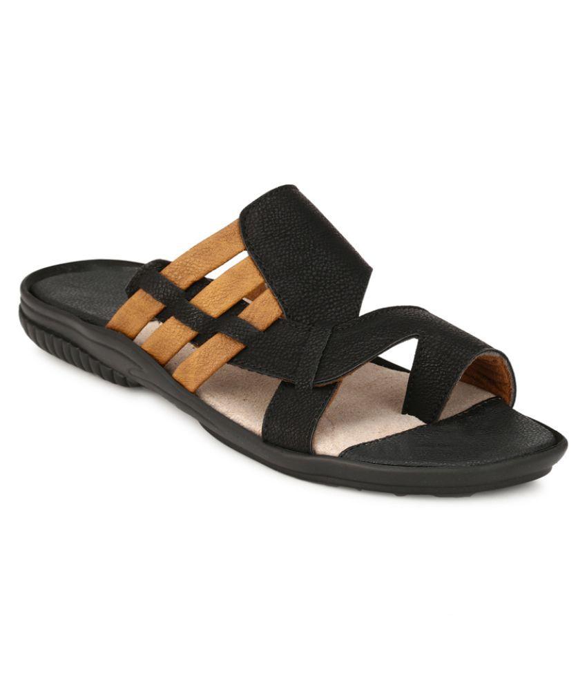 Leeport Lexus Black Sandals