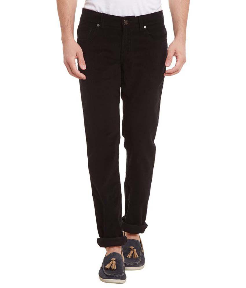Canary London Black Slim Flat Trouser