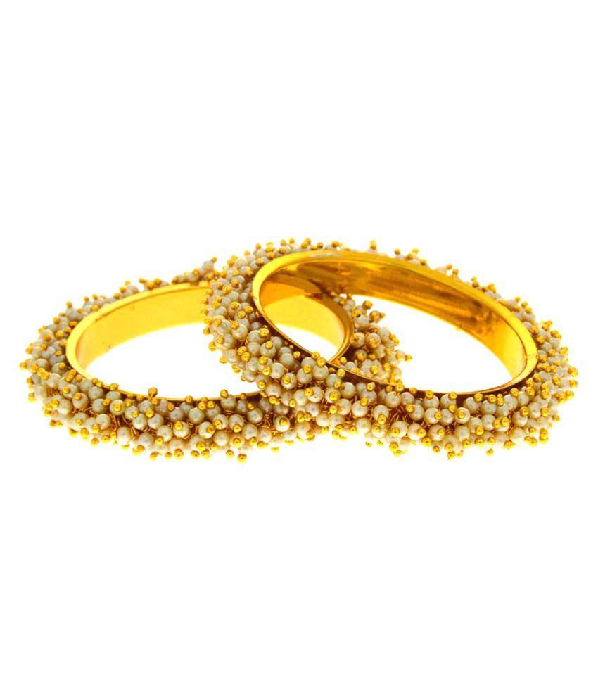 Anuradha Art Golden Alloy Traditional Bangles Set For Women