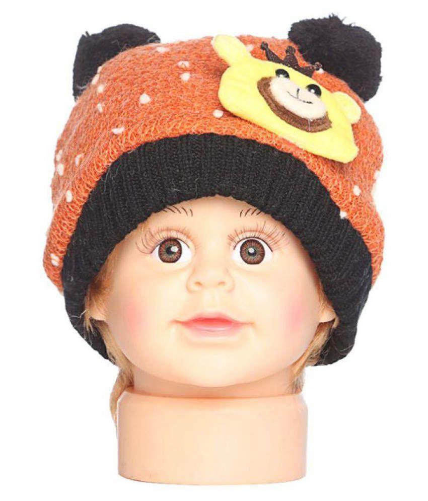 Bizarro.in Orange Woolen Winter Cap