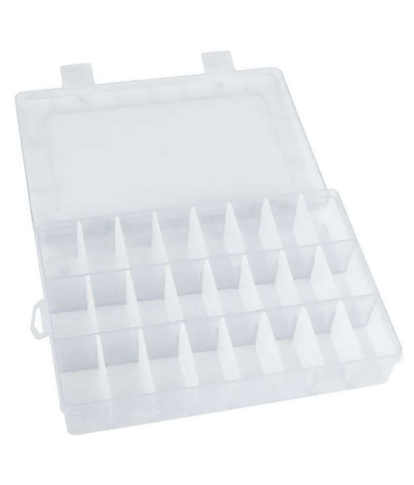 DIY Crafts Practical Adjustable Plastic Compart Storage Display Organizer.
