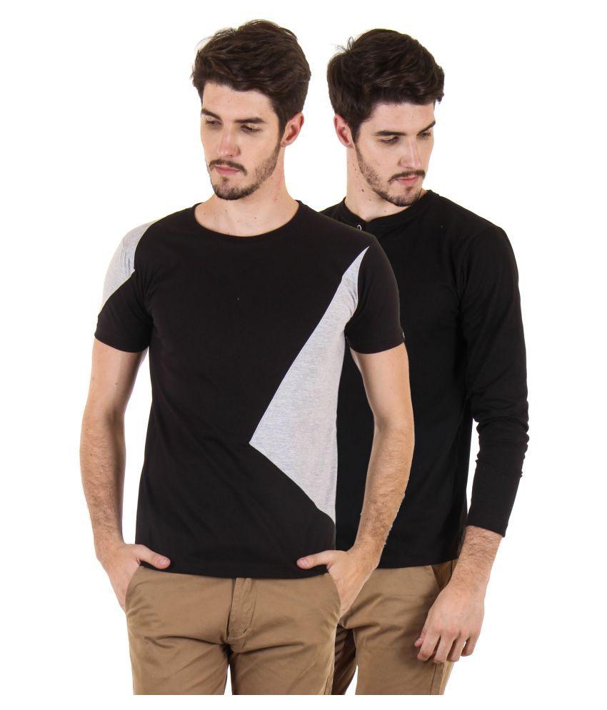 Fio Multi Round T-Shirt Pack of 2